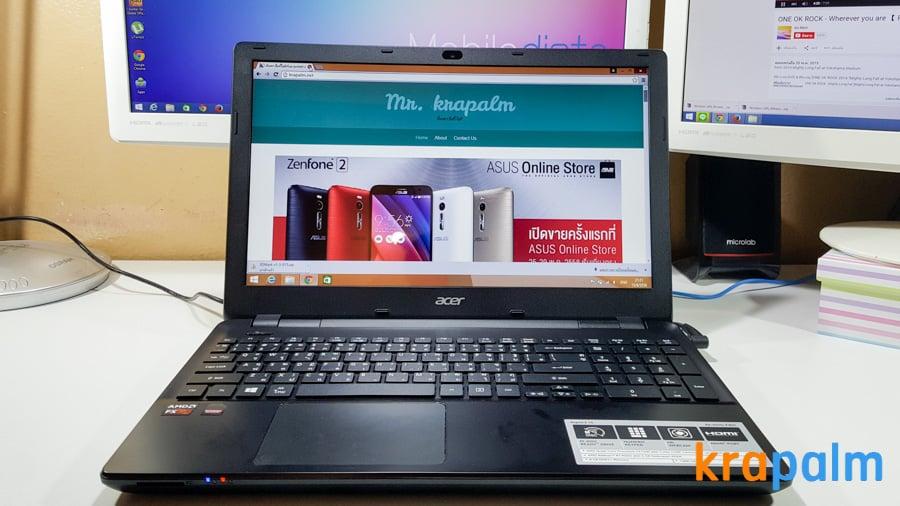 รูป Acer E5 551G 12 ประกอบเนื้อหา รีวิวโน้ตบุ๊ค Acer Aspire E5-551G-F4U1 ตัวแรงราคาแค่ 19,990 บาท