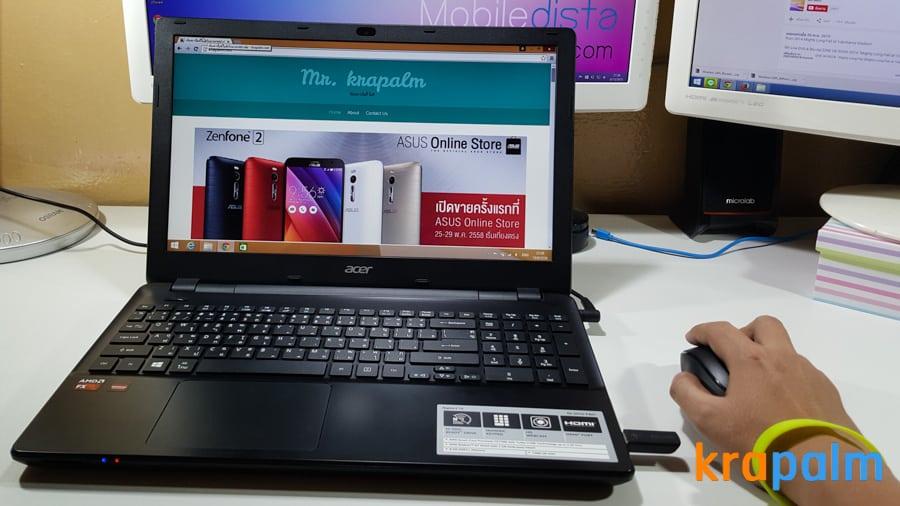 รูป Acer E5 551G 181 ประกอบเนื้อหา รีวิวโน้ตบุ๊ค Acer Aspire E5-551G-F4U1 ตัวแรงราคาแค่ 19,990 บาท