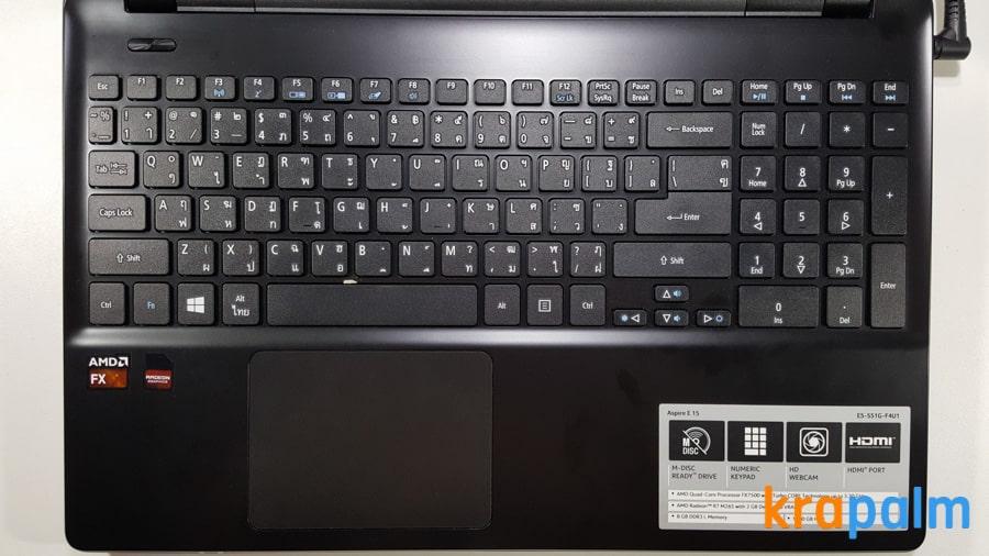รูป Acer E5 551G 81 ประกอบเนื้อหา รีวิวโน้ตบุ๊ค Acer Aspire E5-551G-F4U1 ตัวแรงราคาแค่ 19,990 บาท