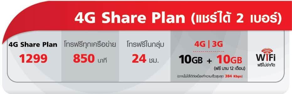 รูป t51 ประกอบเนื้อหา แพ็คเกจ 4G Share Plan แชร์เน็ตและโทรได้สูงสุด 3 เบอร์ในแพ็คเกจเดียว จาก TrueMove H