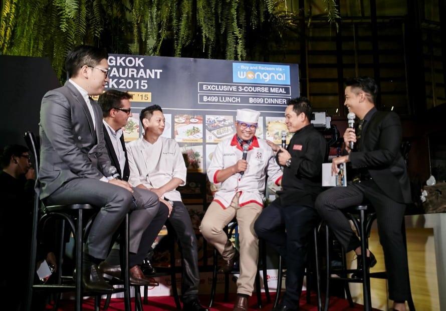 รูป  เชฟชุมพล เชฟบุญธรรม เชฟแรนดี้ ร้าน fillets และ Mr.Thomas ผู้บริหาร Vogue Lounge Thailand 890x6221 ประกอบเนื้อหา [PR] วงในเปิดตัวโครงการ Bangkok Restaurant Week 2015