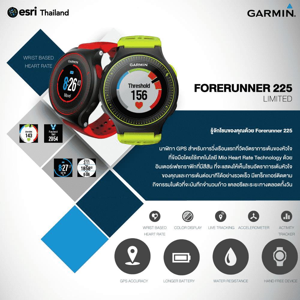 รูป Garmin Forerunner 225 ประกอบเนื้อหา พบนวัตกรรมล้ำเวอร์กับ Gadget รุ่นใหม่ที่งาน Thailand Mobile Expo 2015