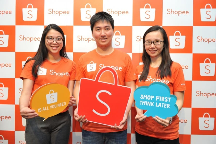 Suchaya Paleewong, Marketing Associate, Terence Pang, Regional Managing Director and Agatha Soh, Regional Marketing, Shopee