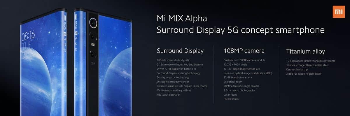 รูป Mi MIX Alpha 12 ประกอบเนื้อหา เสียวหมี่ นำ Mi MIX Alpha มาโชว์สุดยอดนวัตกรรมก ารออกแบบสมาร์ทโฟนครั้งแรกในไทย