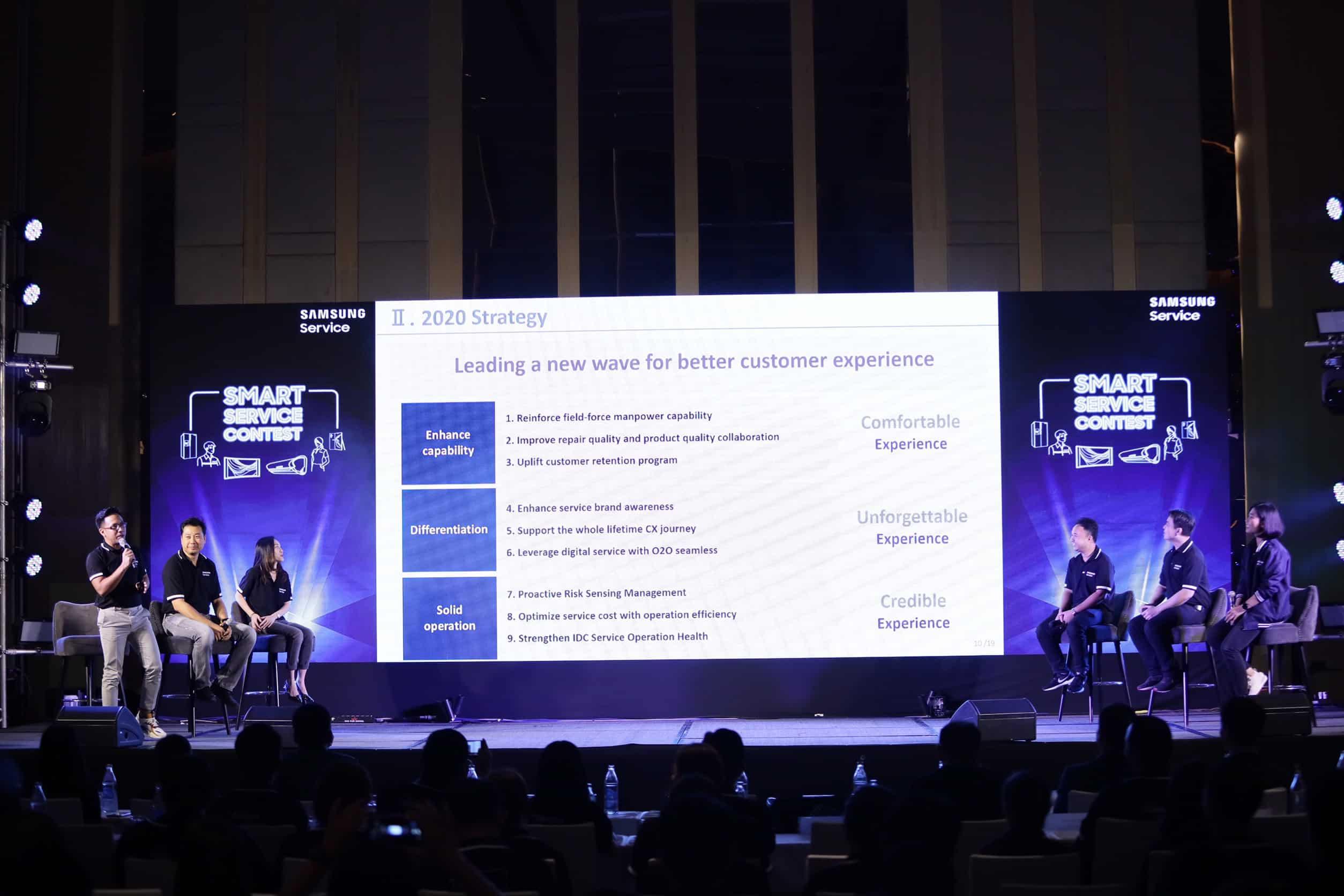 รูป Smart Service Contest ประกอบเนื้อหา Samsung Services สานต่อความ 'ตั้งใจ' เดินหน้าชูนโ ยบายด้านการบริการปี 2563