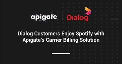 รูป 3104039 ประกอบเนื้อหา ลูกค้า Dialog เพลิดเพลินกับ Spotify ได้แล้วด้วยโซลูชันของ Apigate