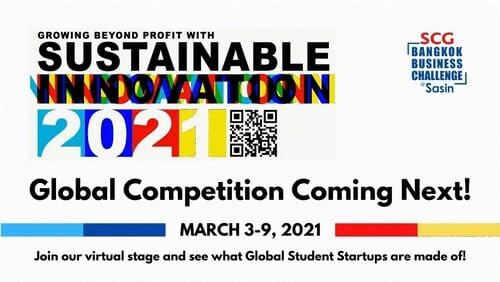 รูป BBC 2021 Global Competition 1 ประกอบเนื้อหา นักศึกษาไทยเจ๋ง! คว้า 5 ที่นั่ง เข้ารอบ Global Competition ในการแข่งขัน SCG Bangkok Business Challenge @ Sasin 2021 ร่วมเชียร์ 3 - 9 มีนาคมนี้