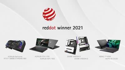 รูป GIGABYTE ประกอบเนื้อหา GIGABYTE กวาดรางวัลจากเวที Red Dot Design Awards 2021