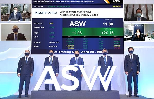 รูป picc ประกอบเนื้อหา ASW เทรดวันแรกพุ่งเหนือจอง 20.16% ตอกย้ำความเชื่อมั่นอสังหาฯ High Growth ปักหมุดมาร์เก็ตแคปติดอันดับ 1 ใน 10